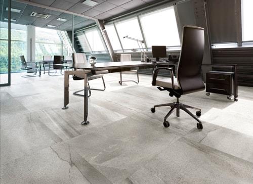 Fliesenverlegung Büro, Bowani Boden Wand, FLiesenleger